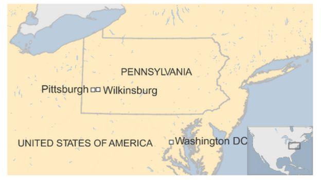 Map of Wilkinsburg, Pennsylvania