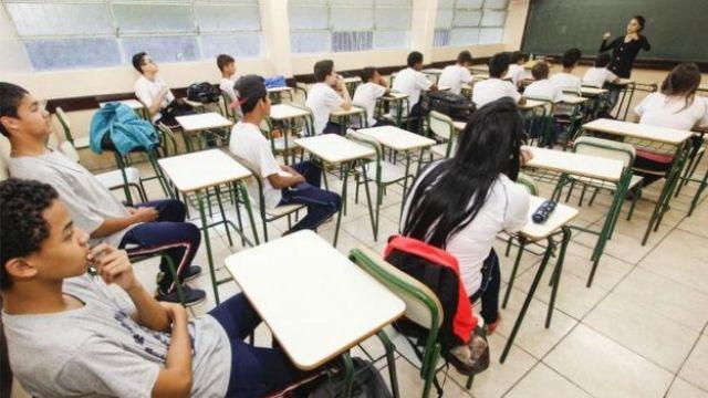 Sala de aula no Paraná