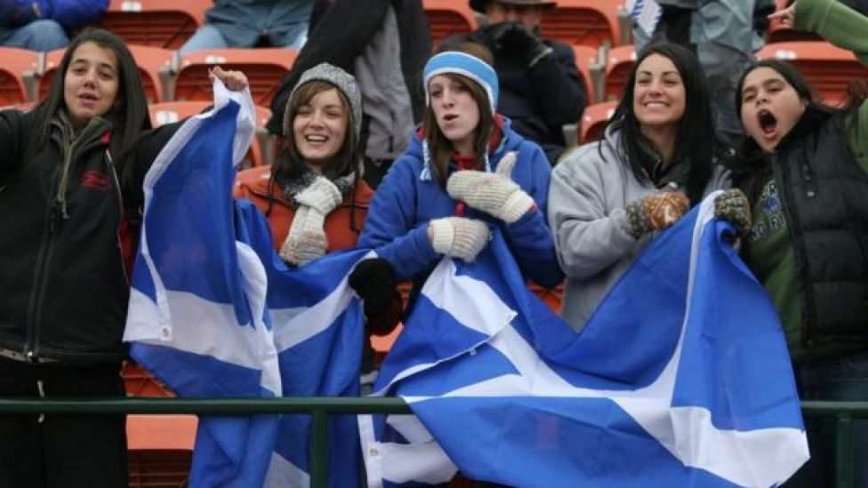 Scotland rugby fans
