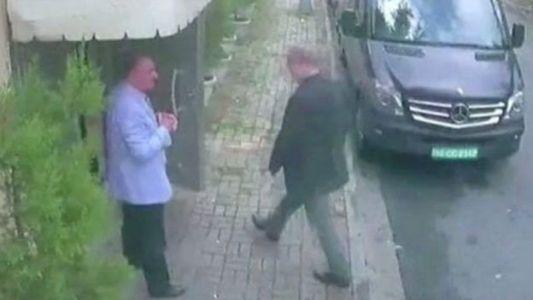Muuqaal laga arkay CCTV ayaa muujiyay weriye Jamal Khaashoggi oo sii galaya qunsuliyada Sucuudiga ee Istanbul.