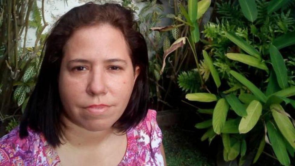 A venezuelana Patricia Aloy, filha de brasileiro e cubana