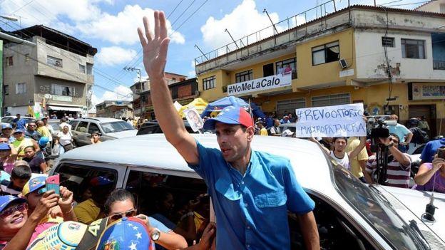 Henrique Capriles, líder opositor venezolano