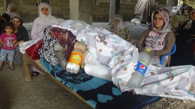 The wrapped body of Meryem Sune in Cizre