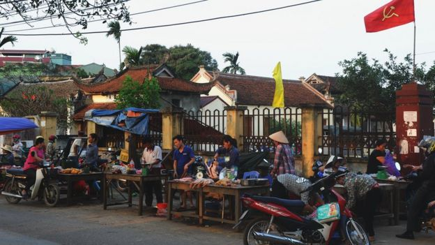 Street market in Hanoi