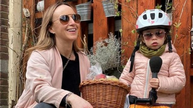 Anna Holligan and daughter
