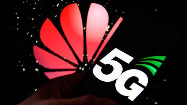 Logo de Huawei y el 5G