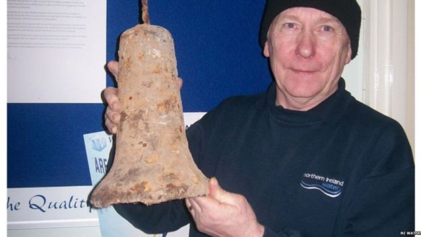 School bell taken from sewer