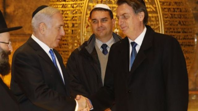 Bolsonaro e premiê israelense