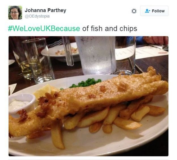 Fish&chips tweet