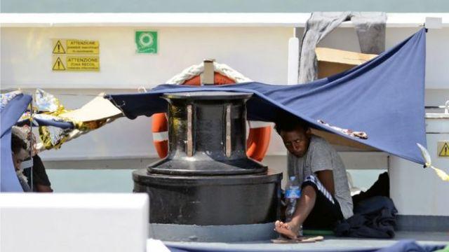 Diciotti'de bir göçmen