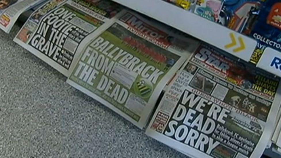 Portadas de la prensa en Irlanda.