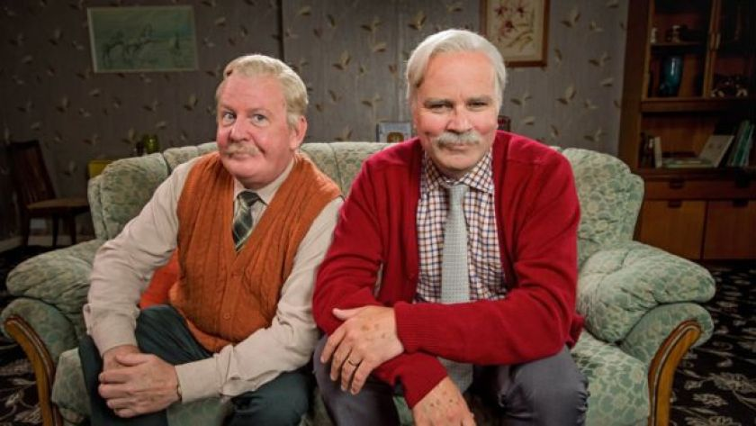 Jack and Victor on the set of Still Game