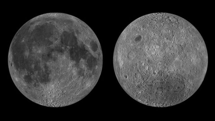 Near side and far side of Moon