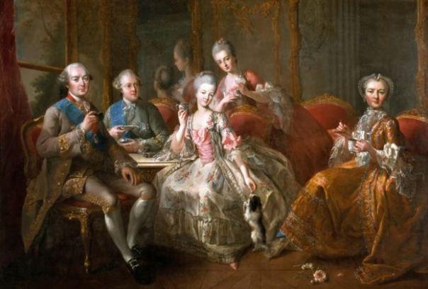 El Duque de Penthièvre y su familia, pintado por Jean-Baptiste Charpentier
