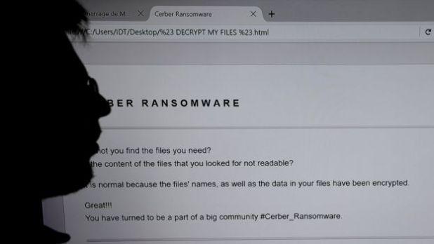Una captura de un ransomware