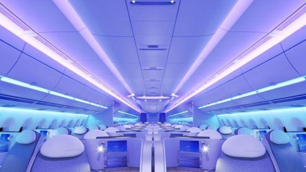 Interior do Airbus A350 XWB