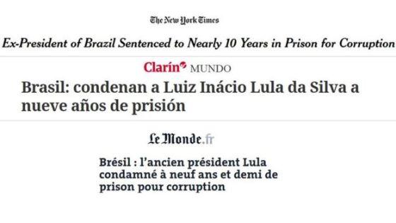 Manchetes de jornais internacionais sobre Lula