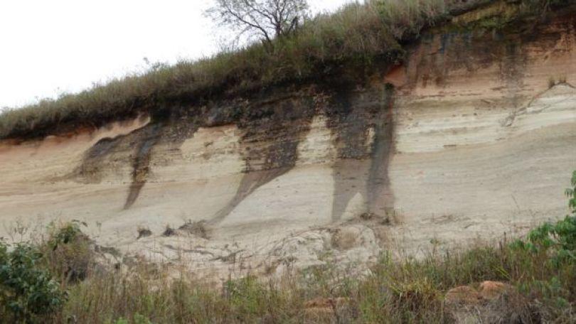 Afloramento do Aquífero Guarani