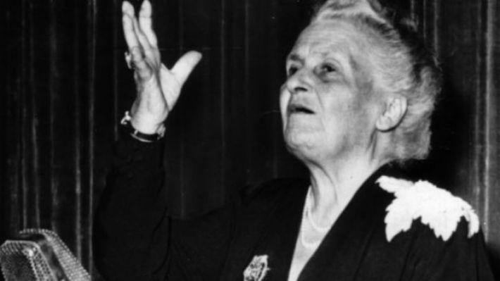 María Montessori en 1949.