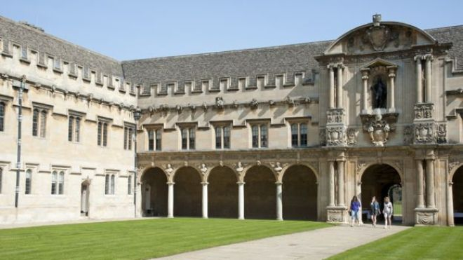 Students at St John's College Oxford