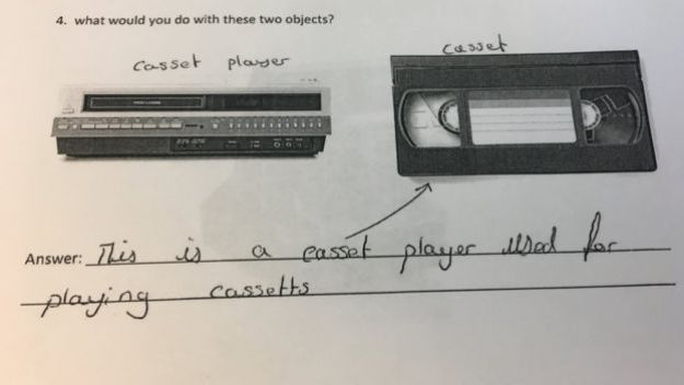 VCR and cassette in BBC questionnaire