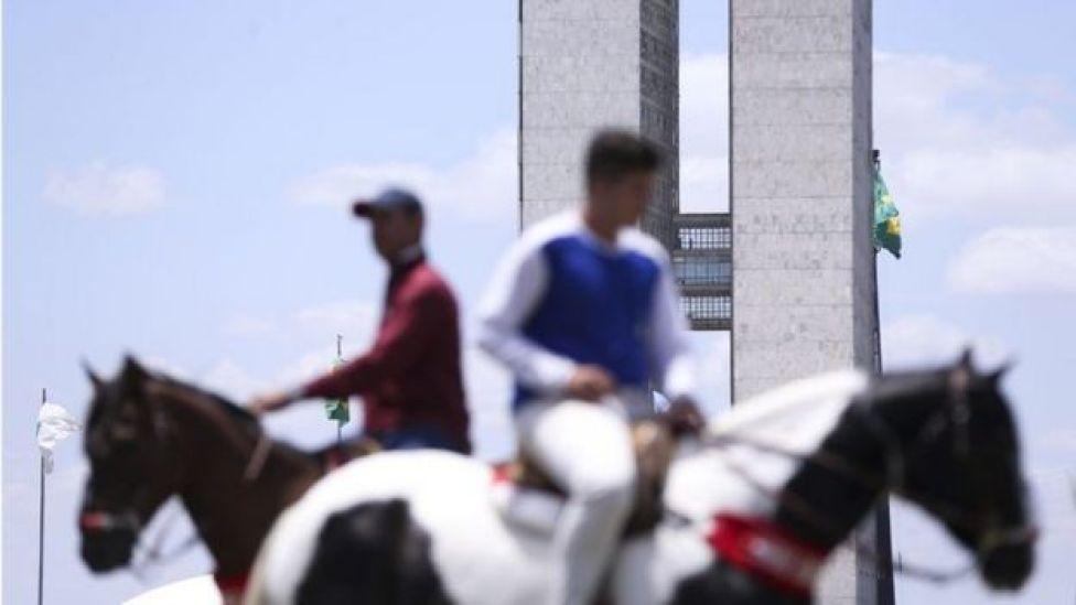 Protesto pró-vaquejada em Brasília