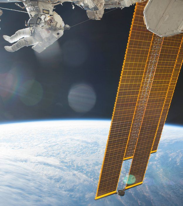 space walk on ISS