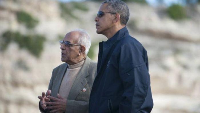 Ahmed Kathrada and President Obama