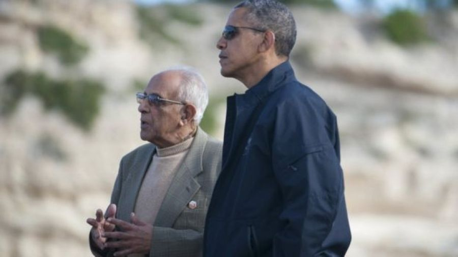 Ahmed Kathrada and President Obama