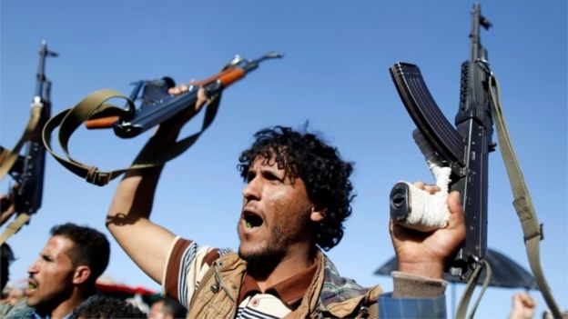 Houthi rebels in Sanaa (file photo)