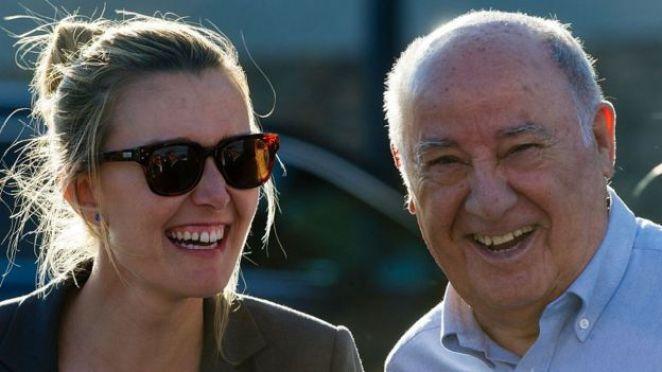 Amancio Ortega and his daughter Marta