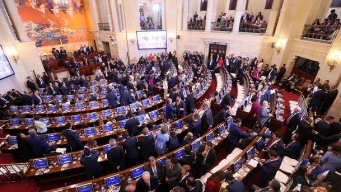 Toma de posesión en el congreso el 20 de julio, 2018 en Bogotá.