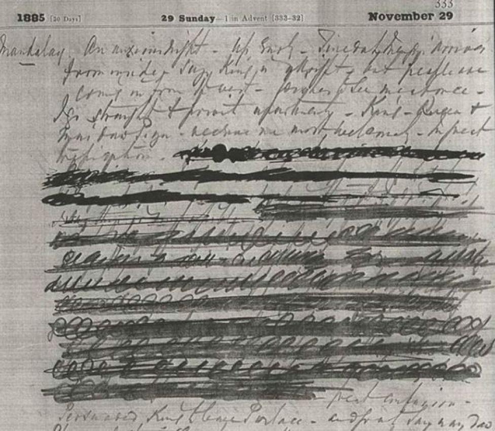 El diario de sir Edward Sladen (Foto: The British Library)