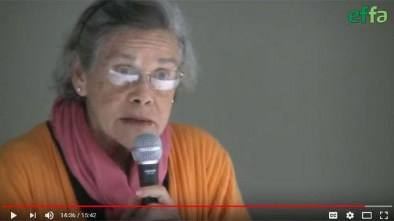 María López Vigil, jornalista cubana, em imagem de vídeo disponível no Youtube