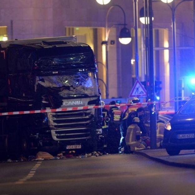 Caminhão usado no ataque na capital alemã