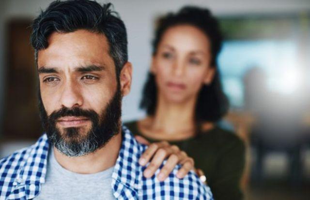 Sad husband and wife