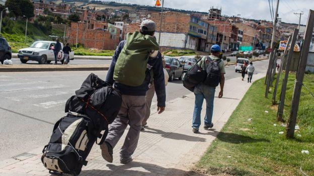 Migrantes venezolanos.