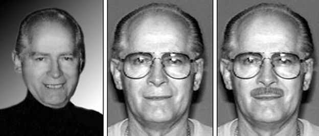 The many faces of Whitey Bulger in an FBI wanted poster
