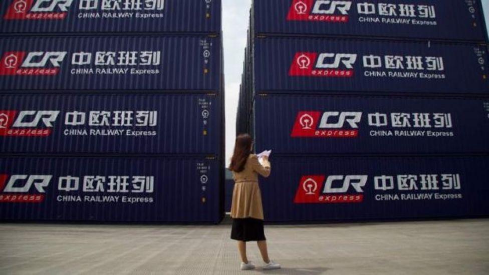 Contenedores en Yiwu, China