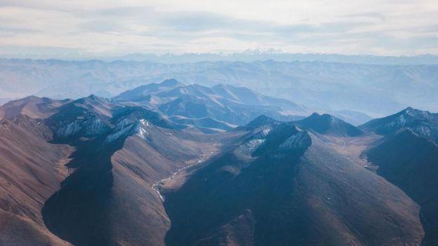 Montañas en Tibet