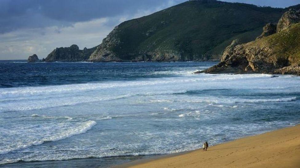 Imagen de una playa de la Coruña.