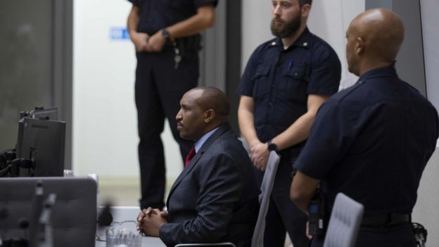 Ntaganda listened while the judge read a list of atrocities