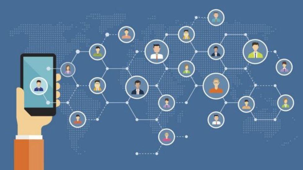 Ilustração de conexões digitais