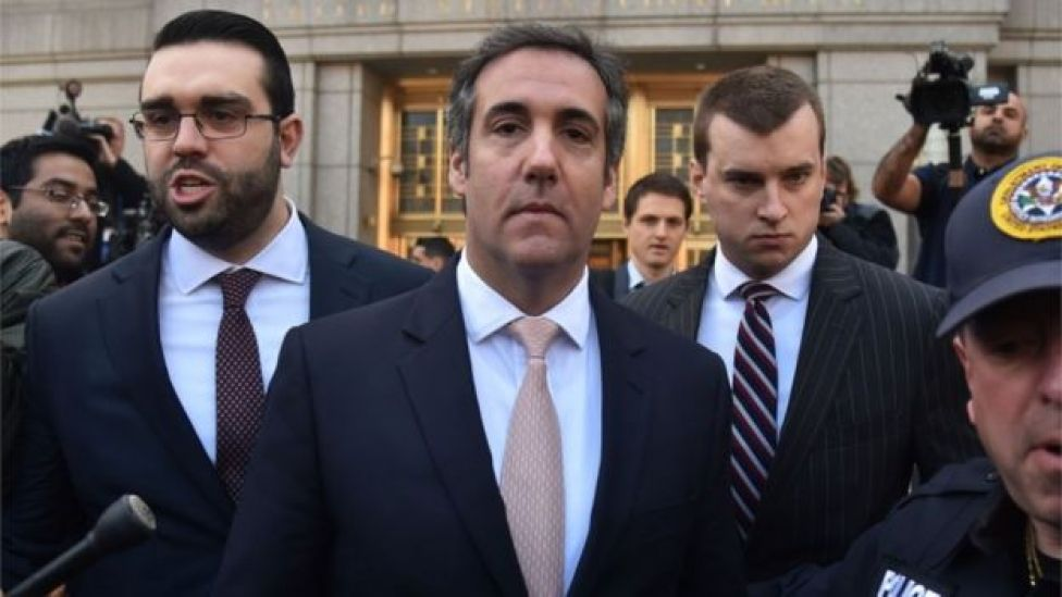 Michael Cohen leaves US courthouse in New York