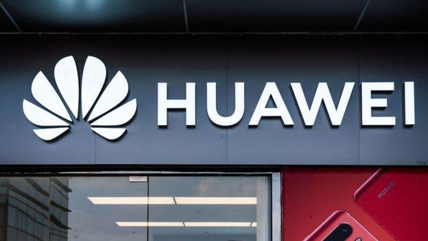 Imagem de fachada da empresa Huawei