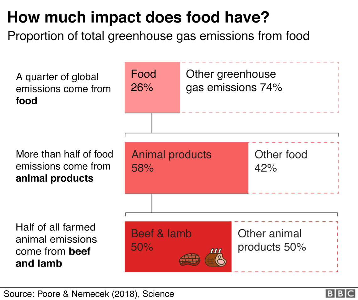 Chart: A quarter of global greenhouse gas emissions come from food