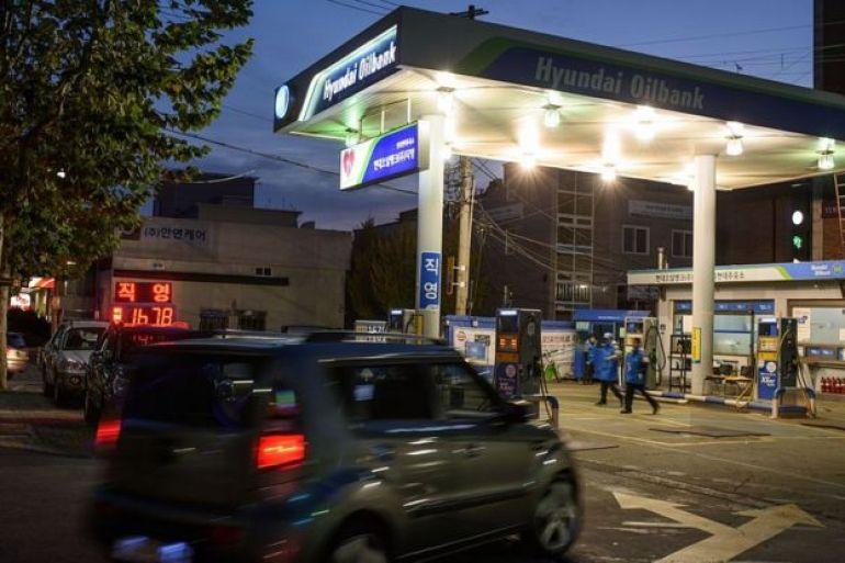 Gasolinera en Corea del Sur.