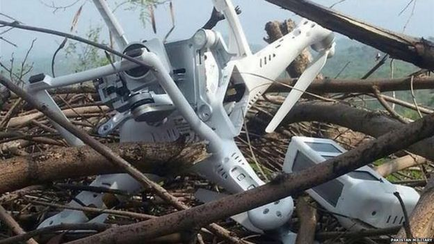 The Pakistani military says it has shot down an Indian spy drone in the disputed region of Kashmir.
