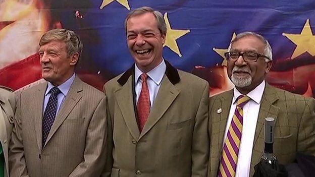 Amjad Bashir with Nigel Farage