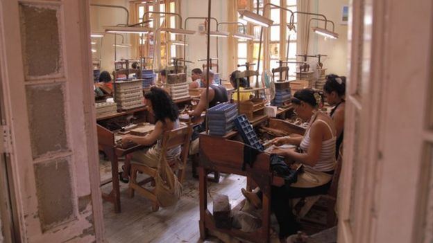 Inside the cigar factory